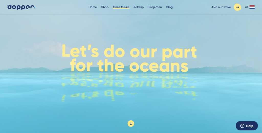 storytelling dopper website